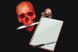Skull Taking Notes