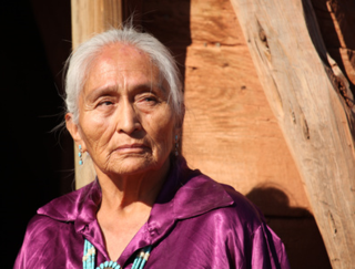 Beautiful Elderly Native American Woman