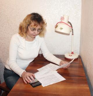 Woman in debt